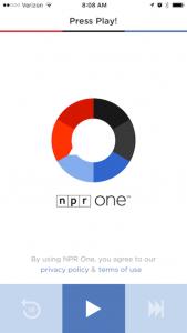 NPR One radio app